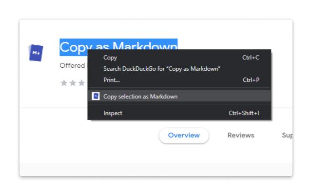 Copy as Markdown