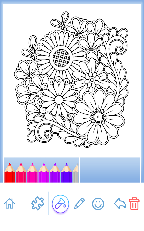Flowers Mandala Coloring Book Screenshot
