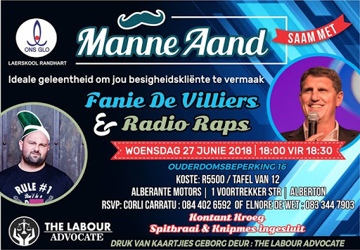 Radio Raps : Alberton - Manne-Aand : 27 Junie : Alberton, South Africa
