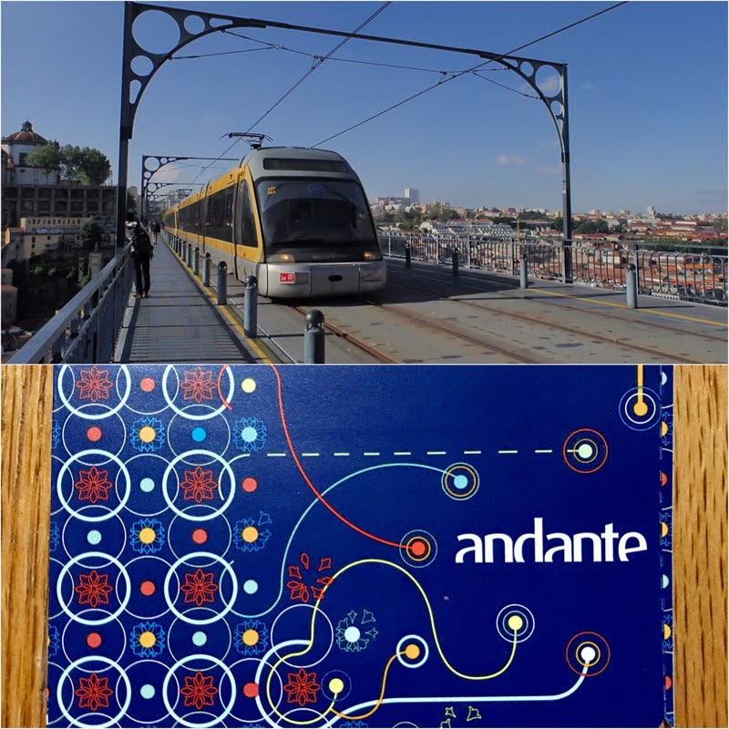 Light-rail Train and Ticket (Porto, Portugal)