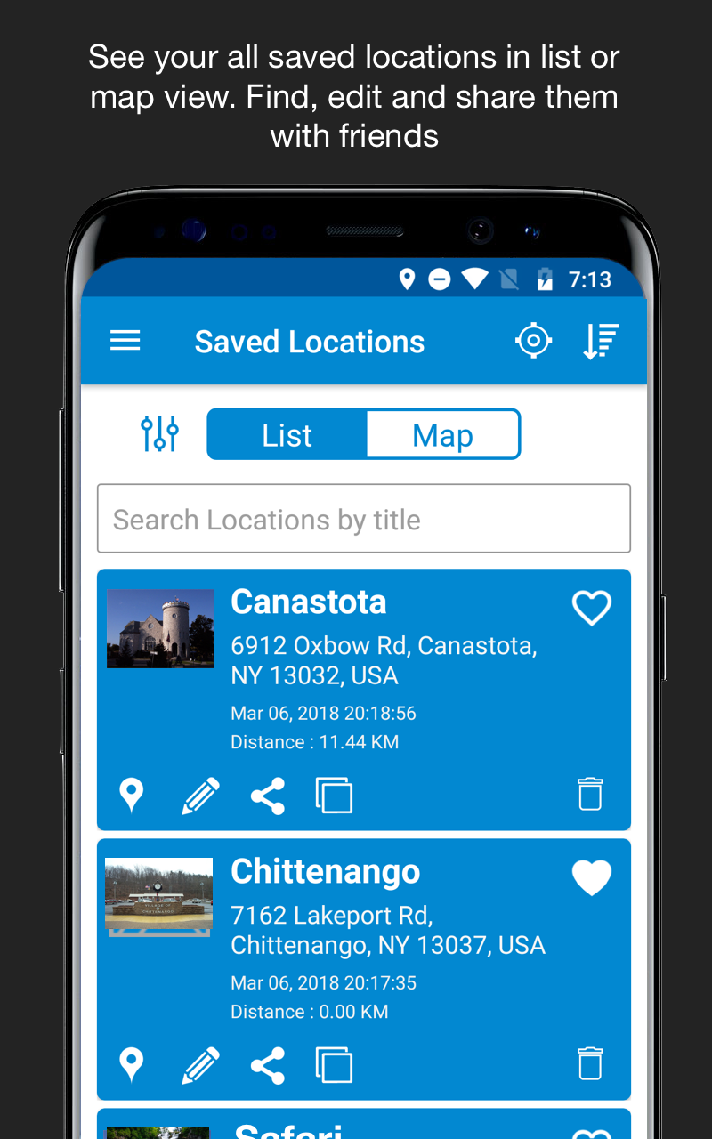 Save Location GPS Screenshot 2