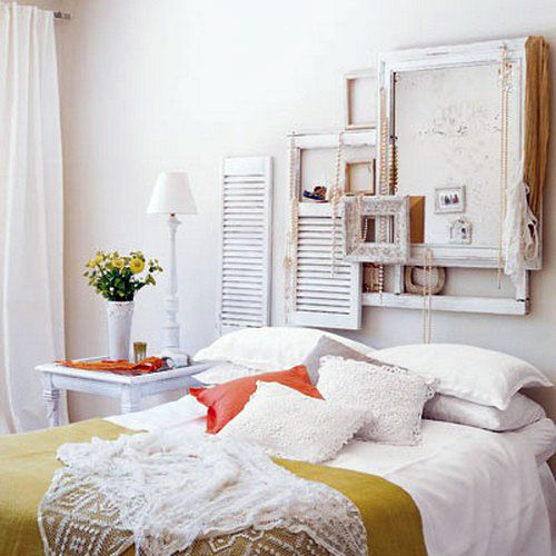 Use Blank Frames To Create A Shabby Chic-Style Wall Decor