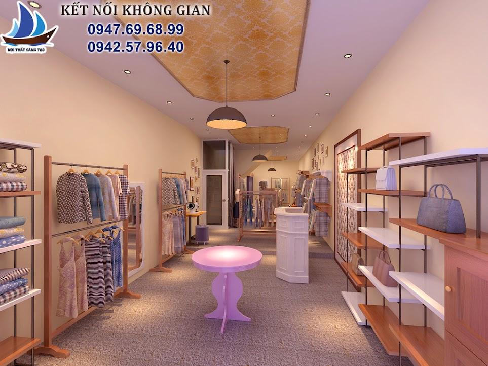 thiết kế cửa hàng thời trang nữ vintage