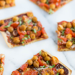 BBQ Quinoa Pizza with Chickpeas.