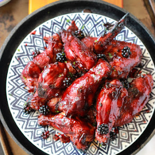 Sriracha Blackberry BBQ Wings
