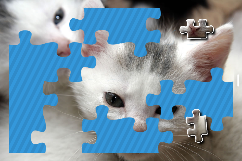 Kittens Jigsaw Puzzle Free Puzzle Games for Kids- screenshot