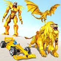 Formula Car Robot Transform - Flying Dragon Robot icon