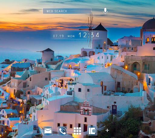 Wallpaper Sunset in Santorini 1.0.0 Windows u7528 1