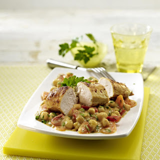 Curry Chicken with Chickpea Stew