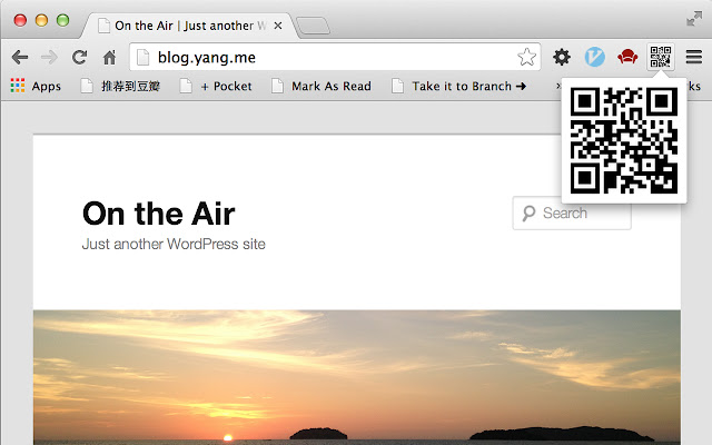 making QRCode of the url