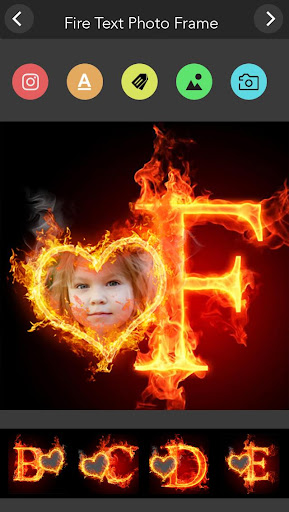 Fire Text Photo Frame  screenshots 1