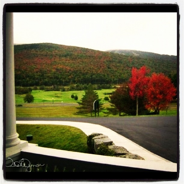 Photo: Fall View from the Veranda of the Mount Washington Hotel, Bretton Woods, NH