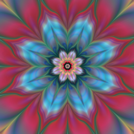Flower 17 by Cassy 67 - Illustration Abstract & Patterns ( abstract, abstract art, wallpaper, digital art, bloom, harmony, flowers, fractal, digital, fractals, flower, energy )