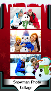 Snowman Photo Collage - náhled