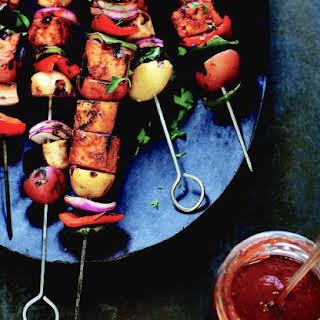 Summer Vegetable And Tofu Kebabs.