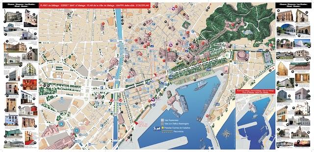 Mapa de Málaga realizado por Juan Núñez.