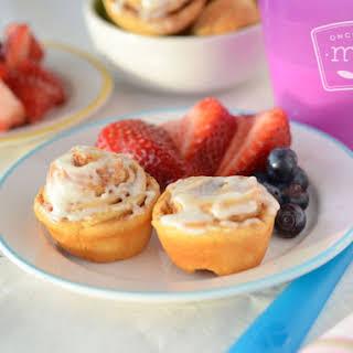 Mini Cinnamon Roll Muffins.