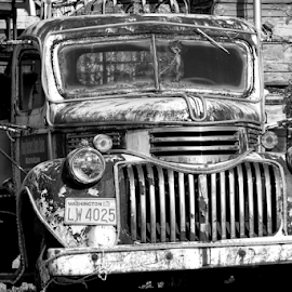 Old truck  by Todd Reynolds - Black & White Objects & Still Life