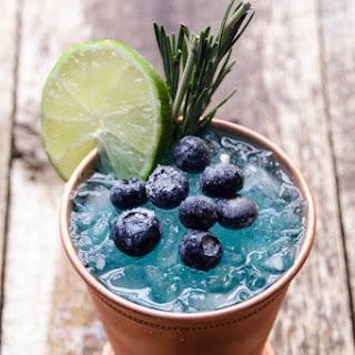Blue Mule Cocktail.