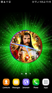 Lord Jesus Clock Live Wallpaper - náhled