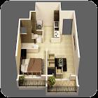 Progettazione 3D di piccole case icon
