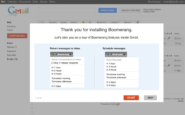 Image result for Boomerang chrome extension