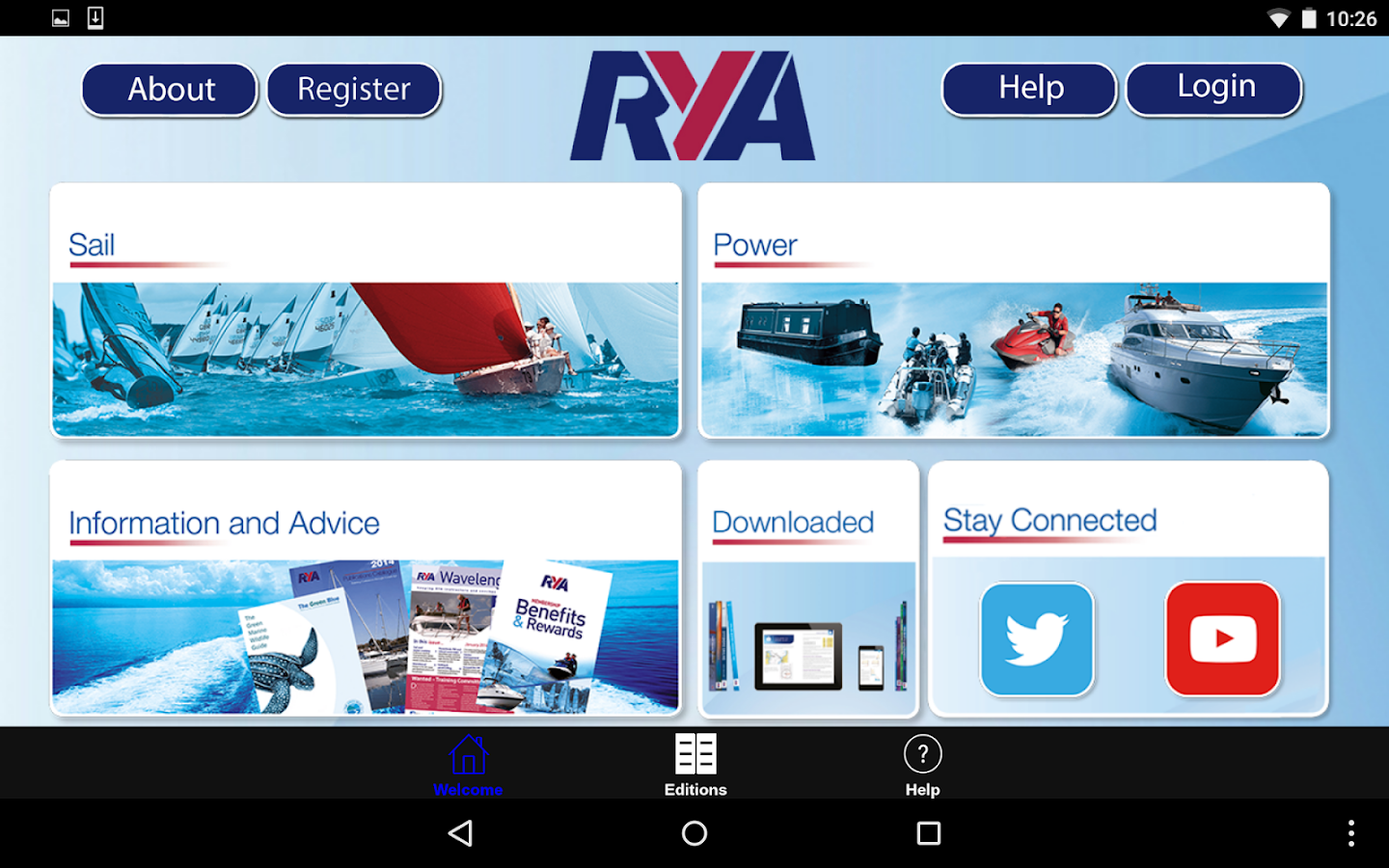 RYA Books- screenshot