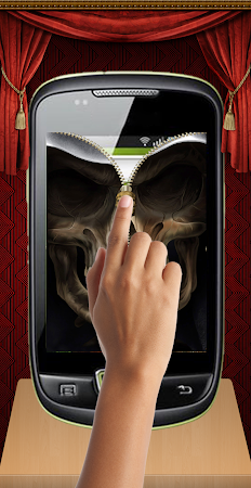 Skull Zip Screen Lock 1.0 screenshot 253518