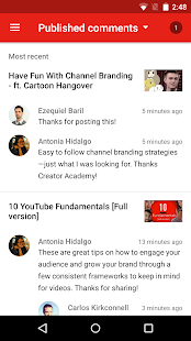 YouTube Studio Screenshot
