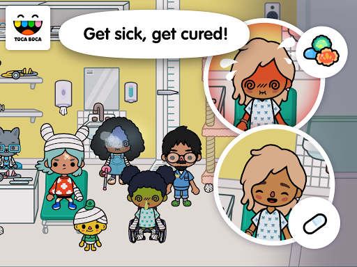 Screenshot for Toca Life: Hospital in United States Play Store