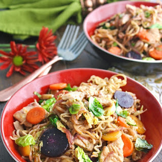 Turkey Stir-Fry with Noodles in Chili-Orange Sauce