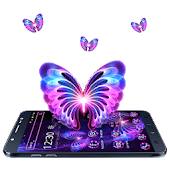 Neon Love Butterfly Theme