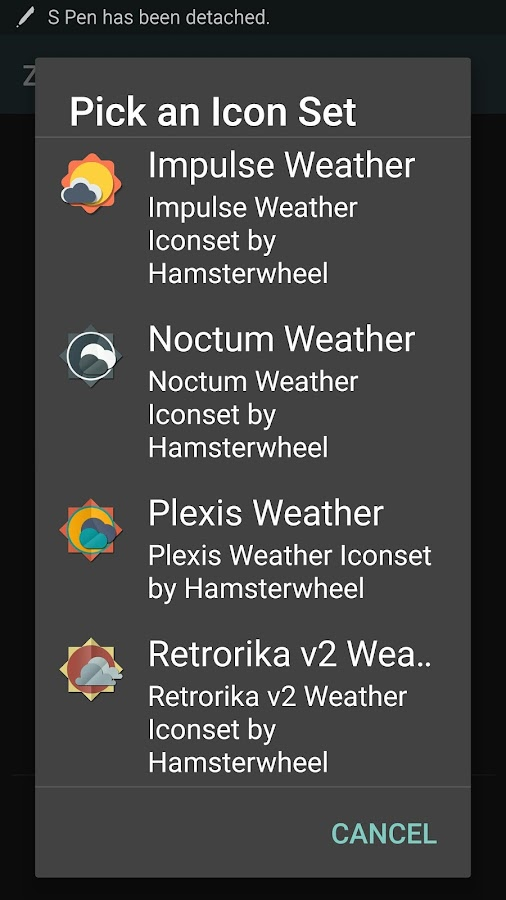 Zai - Weather Sets for Zooper- screenshot