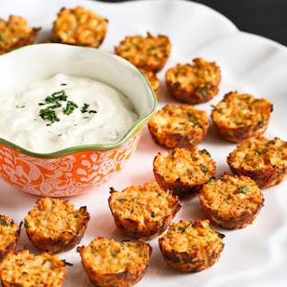 Baked Hummus & Feta Cauliflower Bites