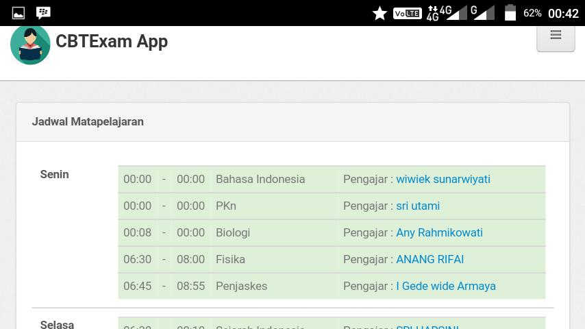 Screenshots of CBTExam SMA Negeri 19 Surabaya for iPhone