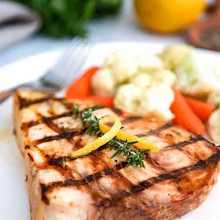 Lemon Rosemary Grilled Swordfish.