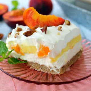 Peaches & Cream Dessert Bars