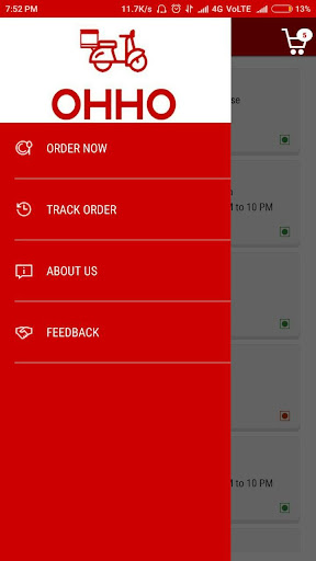 OHHO - Food Delivery Service in Amreli screenshots 1