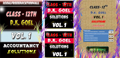 Account Class-12 Solutions (D K Goel) Vol-1 - Free Android