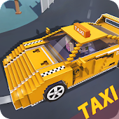 Blocky Taxi Driver: City Rush