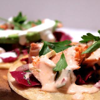 Simple Salmon Tacos.