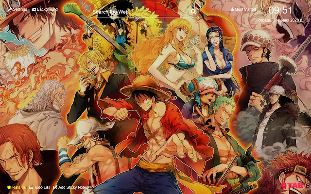 One Piece New Tab Hd Background Theme