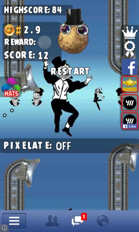 Flappy Potato - screenshot