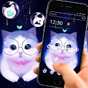 Cute Pink Lovely Kitty Cat Cartoon Theme 😺 icon