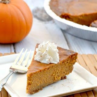 Gluten-Free Classic Pumpkin Pie.