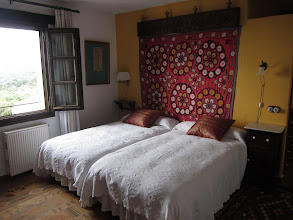 Photo: ... our room at the Hotel La Fructuosa, with views of Gibralter and Morocco ...