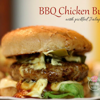 BBQ Chicken Burgers with Jalapenos.