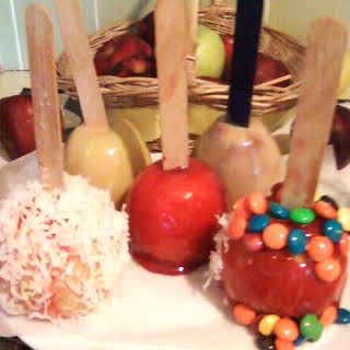 Caramel and Candy Apples.
