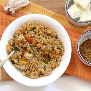 Healthy Jambalaya with Shredded Chicken Breasts and Brown Rice in the Instant Pot - The Perfect One Pot Meal!.