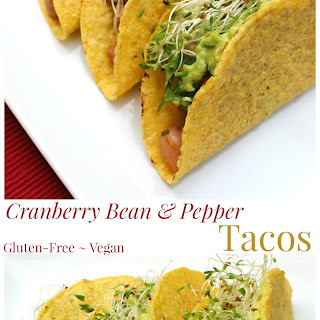 Cranberry Bean & Pepper Tacos